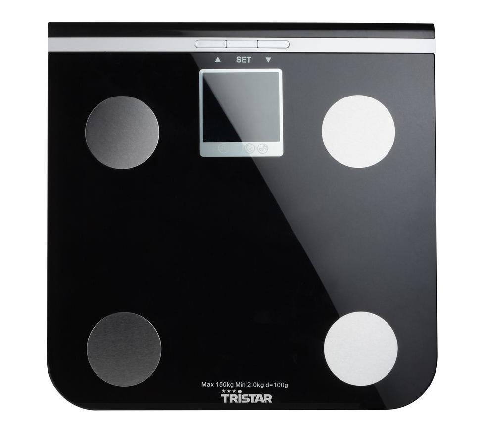 Tristar WG-2424 напольные весы с анализаторомWG-2424Ультратонкие электронные диагностические весы с поверхностью из высокопрочного стекла для измерения веса тела, процентного содержания жидкости в организме, измерения костной и жировой ткани. Весы также оснащены индикаторами перегрузки и заряда батареи.Дополнительные функции:Память до 10 людей Индикатор перегрузки Переключение единиц измерения: кг/фунты/стоуны