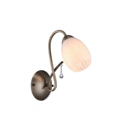 A9534AP-1AB CORNIOLO БраA9534AP-1ABСветильник отличается оригинальным и стильным дизайном, который внесет особую атмосферу в ваш дом. Элегантная форма светильника подойдет для любого интерьера.