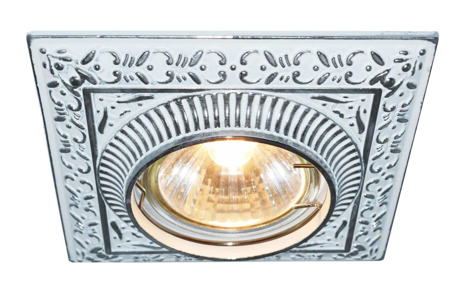 A5284PL-1WA OCCHIO Встраиваемый светильникA5284PL-1WA1x50W; патроны GU10 и G5,3 в комплекте Материал: Арматура: Металл, литьеРазмер: 100x100x45Цвет: Античный белый