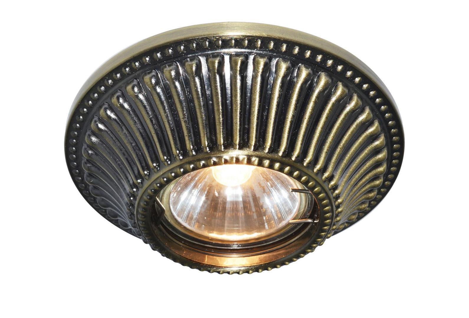 A5298PL-1AB ARENA Встраиваемый светильникA5298PL-1AB1x50W; патроны GU10 и G5,3 в комплекте Материал: Арматура: Металл, литьеРазмер: 110x110x45Цвет: Античная бронза