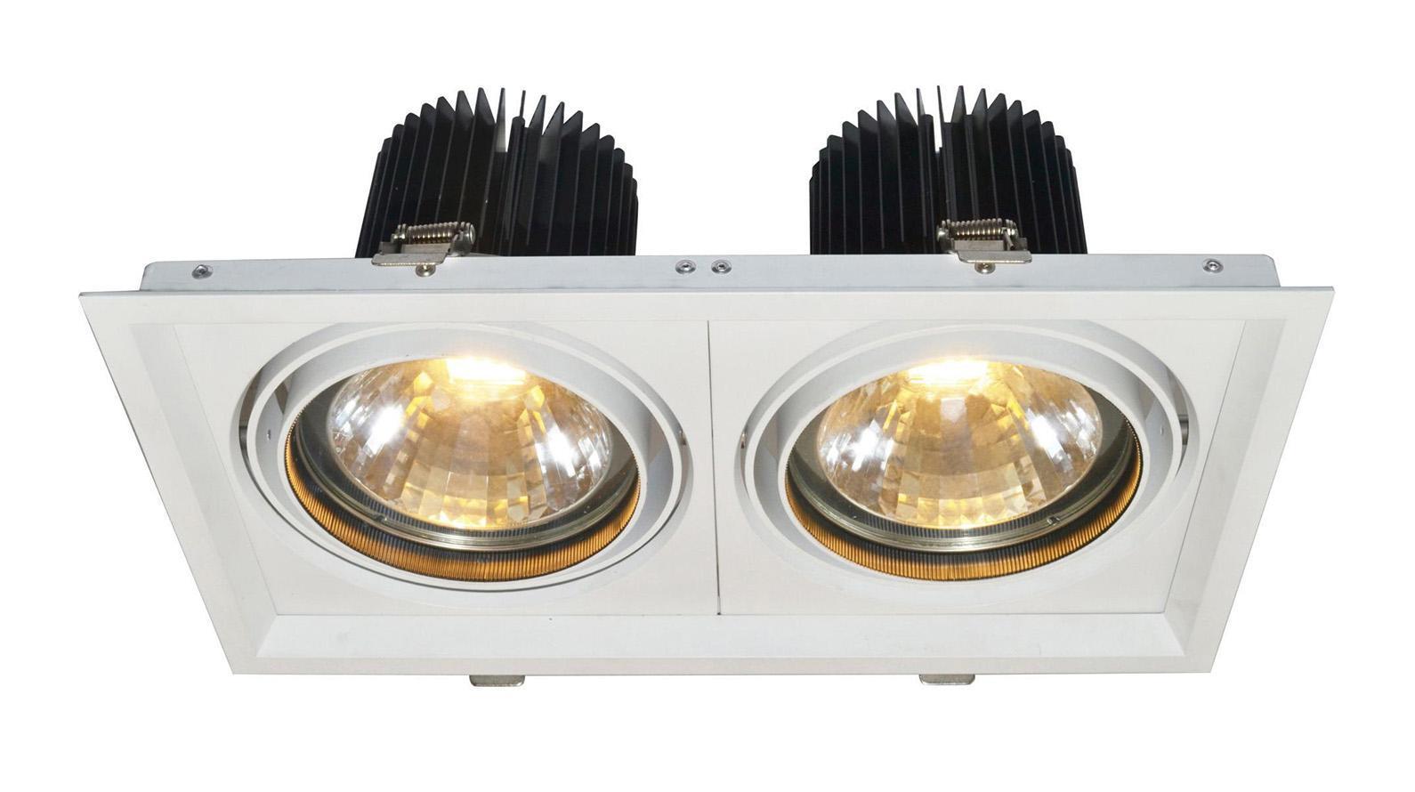 A2134PL-2WH MISSILE Встраиваемый светильникA2134PL-2WH2x30W LED; 2x2400 lm Материал: Арматура: Алюминий / Элемент декора: СтеклоРазмер: 190x350x150Цвет: Белый
