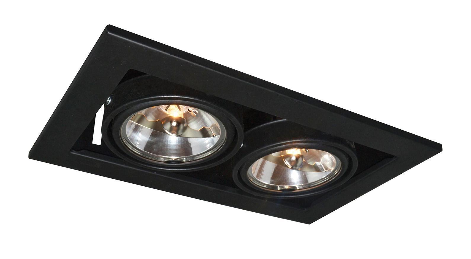 A5930PL-2BK TECHNIKA Встраиваемый светильникA5930PL-2BK2xG5.3x50W Материал: Арматура: Металл крашеныйРазмер: 250x145x120Цвет: Черный