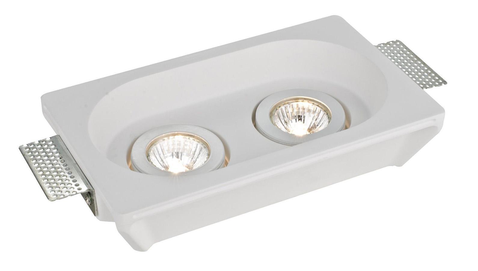 A9215PL-2WH INVISIBLE Встраиваемый светильникA9215PL-2WH2xGU10X35W; Светильник можно красить Материал: Арматура: ГипсРазмер: 255x155x55Цвет: Белый
