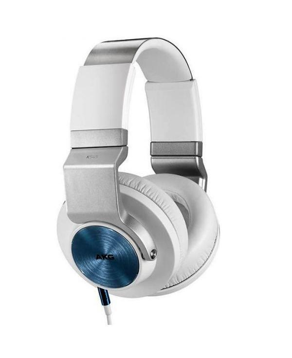 AKG K545WHT, White наушникиK545WHT, WhiteОт производителя Гарнитура AKG K545 была разработана в результате творческого сплава профессиональных технологий AKG, предложений музыкантов мирового уровня и решений ведущего производителя DJ-микшеров компании UREI. Целями разработчиков стали безупречный звук, максимальная мощность, а также исключительная прочность конструкции. Итог проделанной работы – совершенная гарнитура. В новых мониторных наушниках AKG K 545 наслаждайтесь любимой музыкой где угодно. Встроенный в пульт управления микрофон позволит вам отвечать на звонки и использовать данную модель наушников с приложениями типа Skype. Закрытый дизайн помогает избавиться от внешних шумов в наушниках и сводит к минимуму утечку звука наружу.Особенности: - тип:закрытые динамические, с микрофоном; - акустическое оформление:мониторные; - цвета: черный, черный/оражевый, черный/бирюзовый, белый; - диапазон воспроизводимых частот: 20 Гц – 20 кГц; - чувствительность : 97 дБ; - диаметр мембраны: 50 мм; - сопротивление: 32 Ом; - максимальная потребляемая мощность: 50 мВт; - вес: 281,5 г; - длина кабеля:2 кабеля х 1,2 м; - отличные наушники для дома и путешествий; - совместимы с iPhone, iPod, iPad, ОС ANDROID и большинством других устроиств; - закрытая конструкция с глубокой чашкой, что обеспечивает объемный звук и мощные глубокие басы; - 50-мм драйвер для высококачественного воспроизведения от любых источников; - уникальная конструкция, которая обеспечивает удобную посадку и универсальную регулировку для долгого прослушивания музыки; - превосходная пассивная шумоизоляция; - механизм 2D-AXIS для компактного складывания и переноски наушников, а также удобного ношения; - 2 шнура с микрофонами встроенными в пульт управления.Комплектация: - наушники AKG K 545; - съемный кабель с трехкнопочным пультом и микрофоном для продуктов Apple; - съемный кабель с однокнопочным пультом и микрофоном для продуктов ANDROID и др.; - переходник 3,5 мм на 6,3 мм (Jack).Гарантия: 12 месяцев