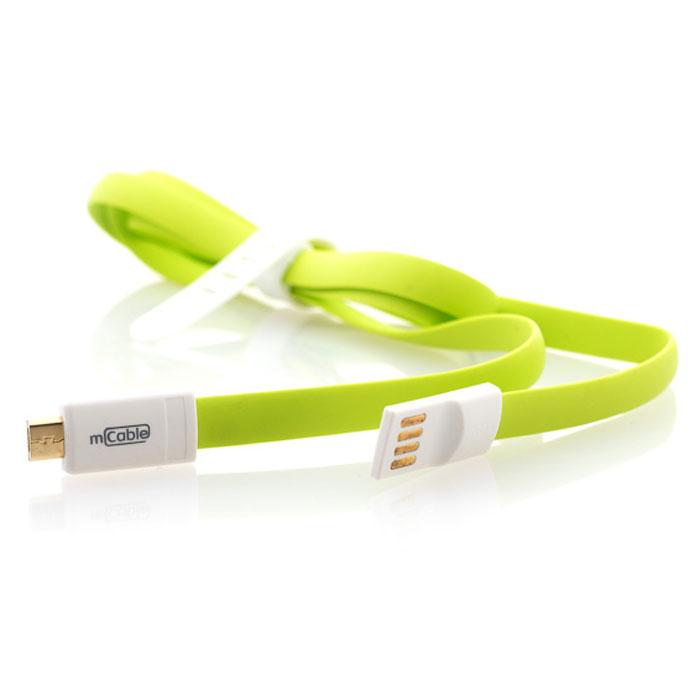Gmini mCable MUS200F, Green кабель USBАК-00000525Кабель Gmini mCase MUS200F-M позволяет подключать к порту USB компьютера или зарядного устройства смартфоны, планшеты, телефоны, MP3-плееры, игровые приставки с разъемом microUSB.Изготовлен из зеленого, розового или синего пластикаИмеет плоский не запутывающийся профильОснащен магнитным креплением в разъемах