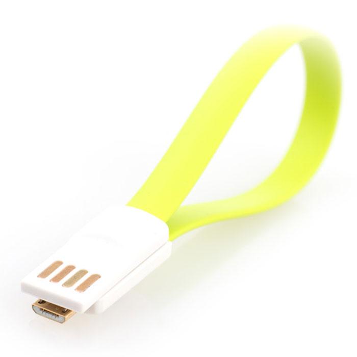 Gmini mCable MUS200F-M, Green кабель USBАК-00000528Кабель Gmini mCase MUS200F-M позволяет подключать к порту USB компьютера или зарядного устройства смартфоны, планшеты, телефоны, MP3-плееры, игровые приставки с разъемом microUSB.Изготовлен из зеленого, розового или синего пластикаИмеет плоский не запутывающийся профильОснащен магнитным креплением в разъемах