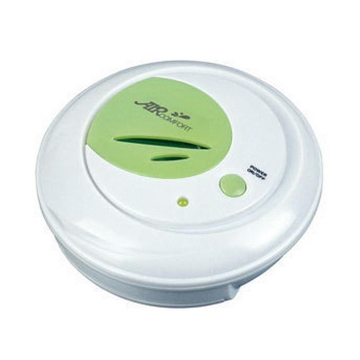 AirComfort GH-2139 воздухоочиститель-ионизатор00000000082Воздухоочиститель-ионизатор AirComfort GH-2139 -инновационное устройство с применением ионной технологии для выработки озона (О3) и анионов для дезодорирования и освежения домашних контейнеров для хранения продуктов, кладовых комнат, шкафов и холодильников.Естественным путем устраняет неприятные запахи без применения маскирующих ароматизаторов и отдушекСнижает порчу пищевых продуктов и предотвращает перекрестное заражение пищевыми запахамиУвеличивает свежесть и срок хранения многих пищевых продуктов, фруктов и овощейРазрушает пестициды и гербициды на фруктах и овощахВстроенный микропроцессор осуществляет контроль за циклом работыТри батарейки ААА на два-три месяца работы устройстваКомплект липучек «Vejcro» и один цельный крюкПитание: 3 батарейки типа ААЭнергопотребление: макс. 0,5 ВаттКонцентрация активного кислорода на выходе: не менее 0.08 мг/м3