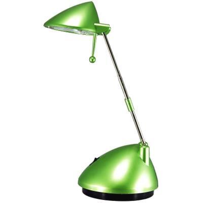Настольный светильник Ультра ЛАЙТ KT113 зелёный перламутрKT113 зелёный перламутрКонструктивная особенность — раздвижная стойка и ручка поворота позволяют установить светильникв удобное положение для оптимального освещения рабочей поверхности. Модели выполнены из термостойких материалов и характеризуются повышенной энергоэкономичностью. Легкая подвижная конструкция обеспечивает создание светового и теплового комфорта. Не рекомендовано касаться руками и металлическими предметами колбы галогенной лампы.