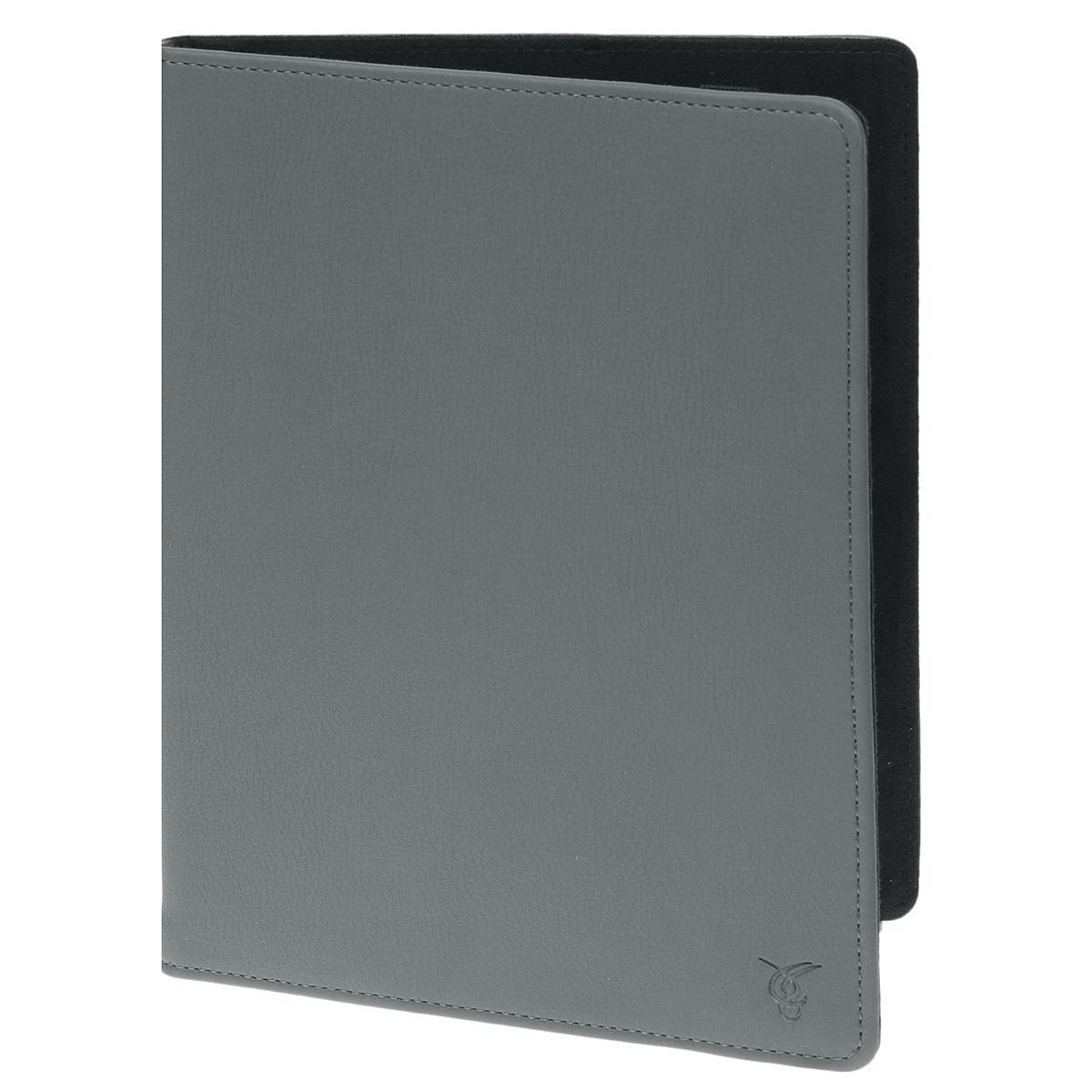 Vivacase Basic универсальный чехол-обложка для планшетов 9, Gray (VUC-CM009-gr)VUC-CM009-grУниверсальный чехол Vivacase с резиновым креплением, который подходит для любых популярных планшетов и электронных книг с диагональю дисплея в 9 дюймов. Он изготовлен из качественной ПУ-кожи, которой обтянут прочный каркас, защищающий устройство во время падений. Внутренняя часть отделана мягкой подкладкой, которая не оставляет никаких следов на корпусе и дисплее.Каркас из тонкой и мягкой резины позволяет прочно и надежно закрепить устройство подходящего размера. Для того чтобы установить устройство в альбомной ориентации, удобной для просмотра видео или чтения, чехол имеет подвижную площадку и два углубления, которые позволяют зафиксировать планшет под двумя разными углами.