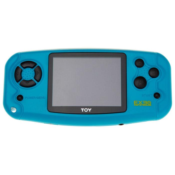 Портативная игровая консоль Exeq Toy, BlueVG-1642Exeq Toy - яркая портативная игровая приставка с набором самых популярных видеоигр. В приставку встроено 199 игр самых популярных жанров и форматов. Корпус консоли выполнен из прочного матового пластика яркой расцветки. На выбор предлагается два варианта цветового решения – желтый и синий. Модель оснащена ярким LCD-дисплеем с диагональю 2,5 дюймов. В богатой коллекции видеоигр Exeq Toy каждый сможет найти игру себе по вкусу – детей помладше привлекут простые игры на внимание, дети постарше, а также взрослые смогут проверить свои знания по игре в шахматы, шашки или выбрать более сложную логическую игрушку. Источником питания для приставки служат три батарейки ААА, время автономной работы консоли составляет около четырех часов. Для того чтобы не привлекать внимание окружающих к звукам любимых видеоигр – к консоли можно подключить наушники посредством стандартного звукового выхода 3,5 мм. Также любую игру с консоли Exeq Toy можно вывести на экран телевизора – приставка оснащена AV-выходом.
