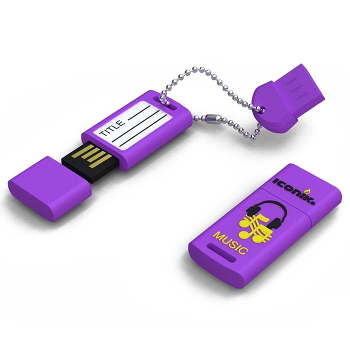 Iconik Для музыки 16GB USB-накопительRB-MUSIC-16GBФлеш-накопитель Iconik Для музыки имеет весьма нестандартный дизайн. Накопитель ударопрочный и защищен резиновым корпусом, а высокая пропускная способность и поддержка различных операционных систем делают его незаменимым. Iconik Для музыки - отличный выбор современного творческого человека, который любит яркие и нестандартные вещи.