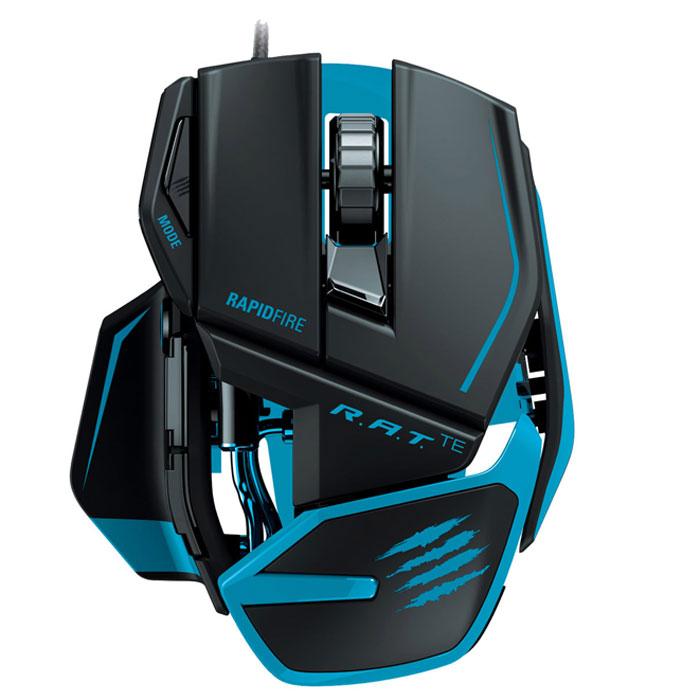 Mad Catz R.A.T.TE, Matt Black игровая мышь (MCB437040002/04/1)MCB437040002/04/1Mad Catz R.A.T.TE - игровая мышь, которая отличается небольшим весом и высокой скоростью. Внутри устройства установлен датчик Philips с разрешением до 8200 dpi, в основе работы которого лежит эффект Доплера. Он автоматически определяет игровую поверхность, на которой находится, и вносит важные изменения в настройки игры. Датчик практически невосприимчив к солнечному свету и пыли, и «дружит» практически с любым типом поверхности. Эта мышь даже в экстремальном режиме может проработать пять лет, если круглый год использовать ее шесть часов в день, шесть дней в неделю. Срок службы продлевают не только прочные материалы, но и переключатели OMRON, которыми оснащены правая и левая кнопки. Снижение веса манипулятора позволило уменьшить его инерционность и сделать более комфортным для продолжительной игры. Разработчики позаботились о том, чтобы мышь вовремя реагировала на отрыв от поверхности и не приводила в действие курсор, когда связь с поверхностью потеряна. Высоту подъема мыши, на которой происходит блокировка датчика, пользователь может регулировать по своему усмотрению. Кнопки Mad Catz R.A.T.TE изначально настроены под наиболее популярные игры, но их с легкостью перепрограммировать под индивидуальные потребности.