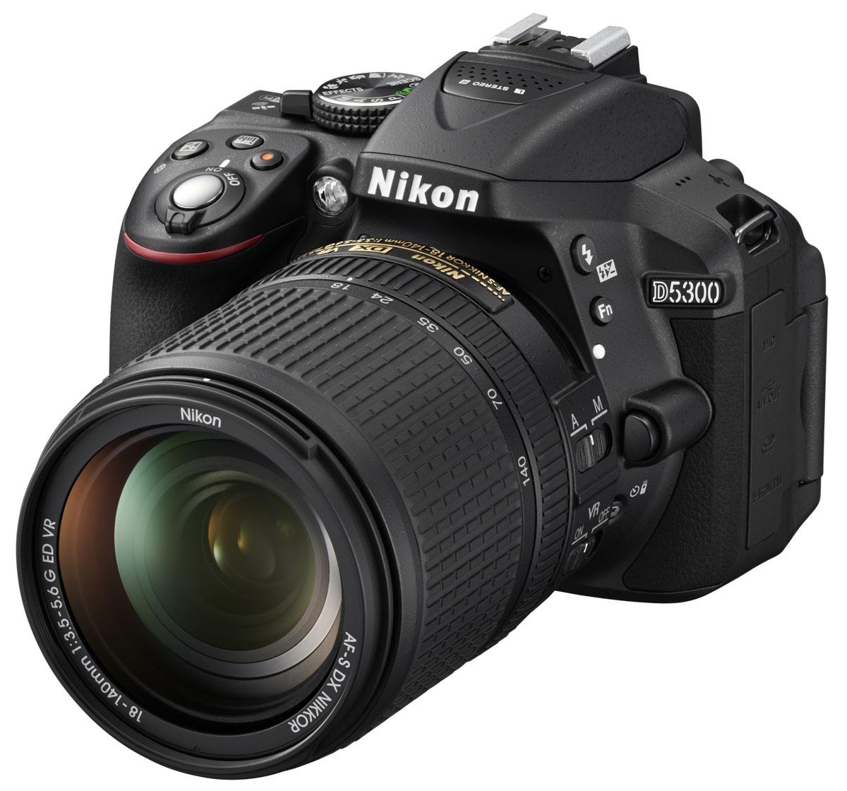 Nikon D5300 Kit 18-140 VR, Black цифровая зеркальная фотокамераVBA370K002