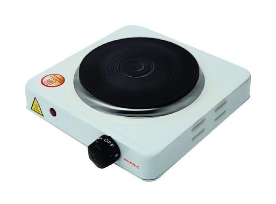 Supra HS-101, White электроплиткаHS-101, WhiteЭлектрические плитки - это компактное, безопасное и надежное оборудование, с помощью которого вы сможете приготовить горячую еду практически в любых условиях. Электроплитки пользуются большой популярностью и обладают целым рядом достоинств. Такие приборы потребляют совсем немного энергии, быстро нагреваются, занимают мало места. Благодаря всему этому их часто используют на дачах и в загородных домах. Электроплитка Supra HS-101 - это небольшой прибор, который предназначен для разогрева воды и приготовления пищи. Электроплитка работает от обычной розетки напряжением 220 В. Световой индикатор, размещенный на фронтальной части плитки, загорается при ее использовании.