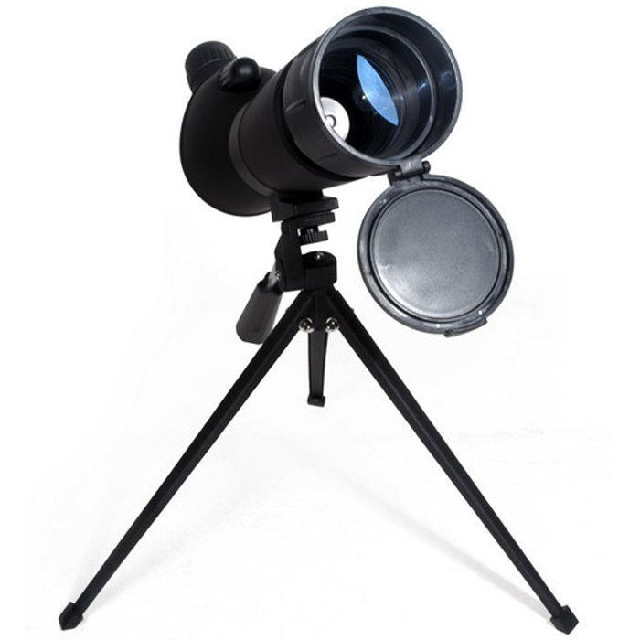 Bresser Spektiv 20-60x60 зрительная труба60196Зрительная труба Bresser Spektiv 20-60x60 – это мощный прибор с переменной кратностью для ведения наземных и начальных астрономических наблюдений. Увеличение изменяется в диапазоне от 20 до 60 крат, на больших увеличениях рекомендуется использовать входящий в комплект настольный штатив. Зрительная труба оборудована колесиками фокусировки и изменения кратности, а также удобным резиновым наглазником. Встроенная выдвижная бленда поможет защитить оптику от росы и ярких солнечных лучей. В комплект также входит защитная крышка объектива и мягкая сумка для транспортировки.Увеличение: 20-60x