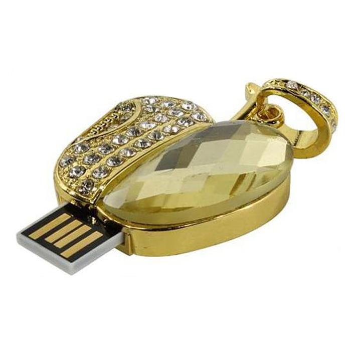 Iconik Яблоко Swarovski Crystal 8GB USB-накопитель iconik сердце swarovski crystal 8gb silver usb накопитель