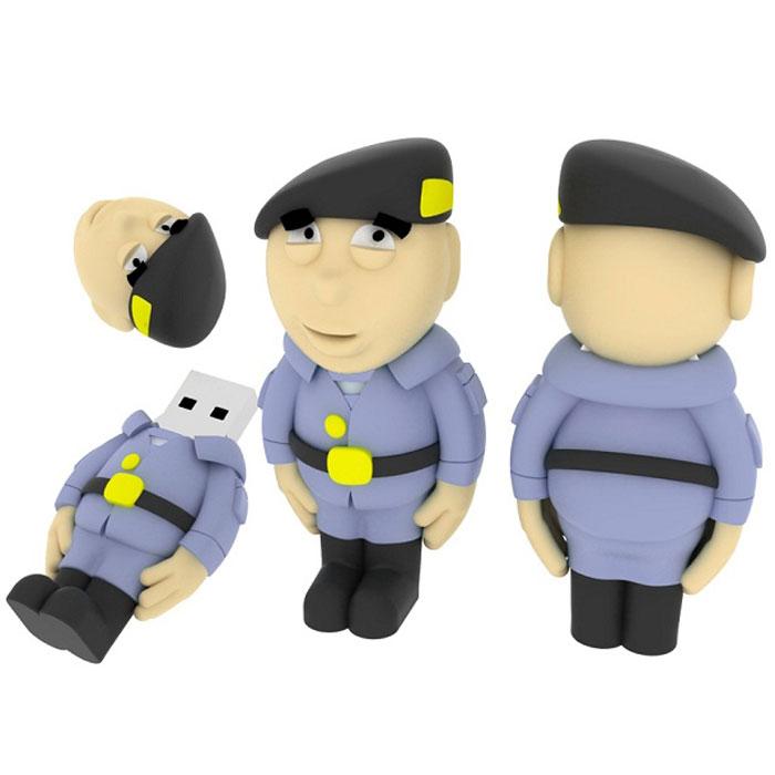 Iconik Полицейский 8GB USB-накопительRB-SOLDP-8GBФлеш-накопитель Iconik Полицейский имеет весьма нестандартный дизайн. Накопитель ударопрочный и защищен резиновым корпусом, а высокая пропускная способность и поддержка различных операционных систем делают его незаменимым. Iconik Полицейский - отличный выбор современного творческого человека, который любит яркие и нестандартные вещи.