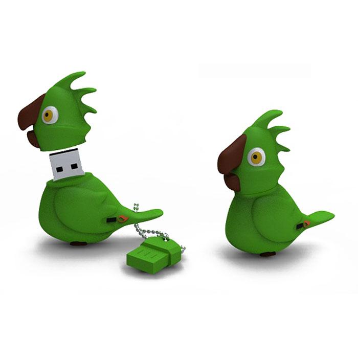 Iconik Попугай 8GB, Green USB-накопительRB-PARRG-8GBФлеш-накопитель Iconik Попугай имеет весьма нестандартный дизайн. Накопитель ударопрочный и защищен резиновым корпусом, а высокая пропускная способность и поддержка различных операционных систем делают его незаменимым. Iconik Попугай - отличный выбор современного творческого человека, который любит яркие и нестандартные вещи.