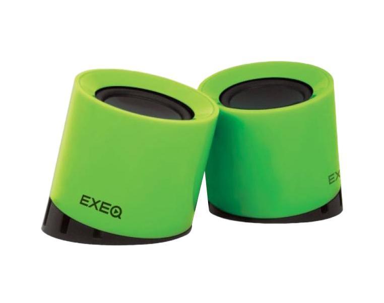EXEQ SPK-2107, Green акустическая системаSPK-2107 greenАкустическая система Exeq SPK-2107 позволит Вам наслаждаться качественным звуком от любого подключенного электронного устройства. Колонки можно подключить через разъем 3,5 мм к телефону, плееру, планшету, ноутбуку или компьютеру. Питание акустической системы осуществляется через USB-порт, что делает ее независимой от электросети. Оригинальный дизайн колонок Exeq SPK-2107 не только придает ей стильный внешний вид, но также создает высококачественный и объемный звук – специальное расположение динамиков обеспечивает специальное акустическое поле, окружающее вас музыкой на все 360 градусов.