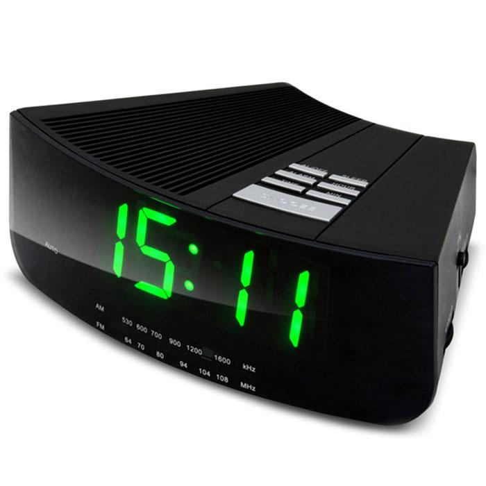 Ritmix RRC-1211 радиочасы с будильником15117058Ritmix RRC-1211 - это AM/FM-радиочасы с будильником, в которых предусмотрено два уровня яркости отображения цифр. Большие цифры высотой 3 см. Устройство питается от батареек или сети.