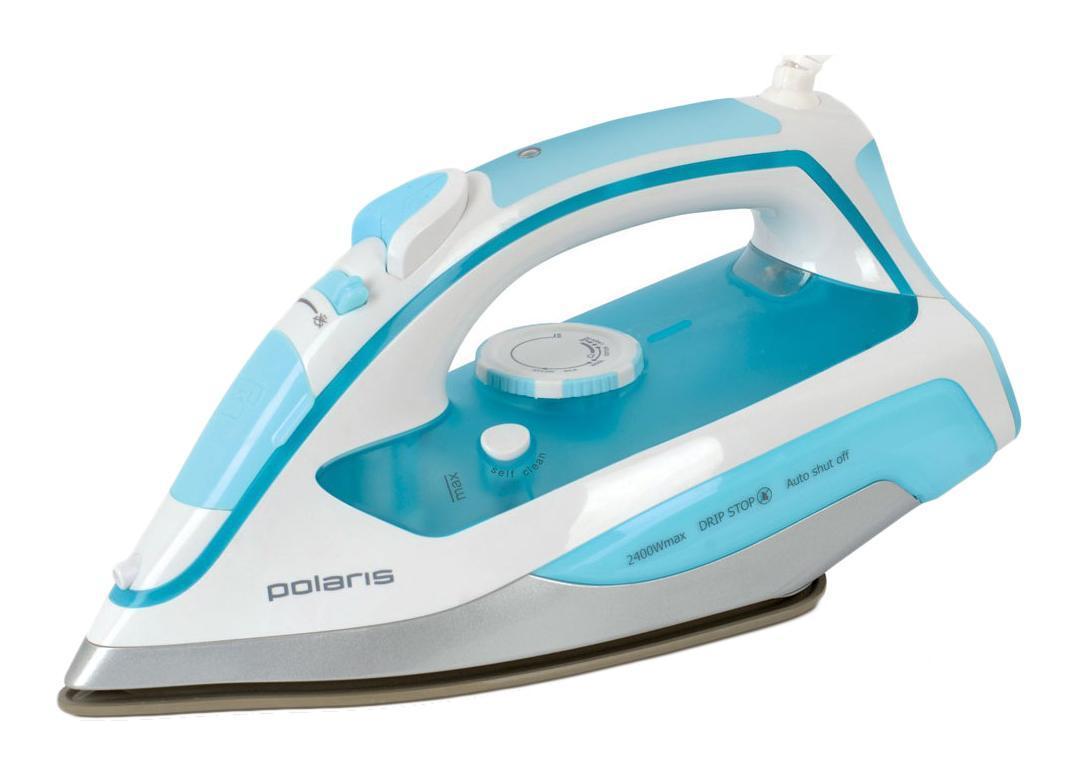Polaris PIR 2469K Blue утюг5199Утюг Polaris PIR 2469K с уникальной керамической подошвой Crystal Ceramic легко и быстро справится с любыми складками. За счет высокой мощности в 2400 Вт подошва прибора моментально нагревается. Благодаря специальной заостренной форме носика утюг проглаживает самые труднодоступные места.Для наиболее эффективного разглаживания самых привередливых складок рекомендуется использовать паровой удар, скорость которого составляет 140 г/мин. Интенсивность парового потока можно регулировать либо совсем отключить подачу пара. Антикапельная система предотвращает протекание воды на одежду. Утюг Polaris PIR 2469K имеет внутренний резервуар для воды объемом 350 л, который наполняется через отверстие впереди корпуса. За счет такого большого резервуара вам не нужно будет постоянно отвлекаться от процесса глажки, чтобы доливать воду. Система защиты от накипи и функция самоочистки избавит вас от необходимости регулярно чистить прибор.