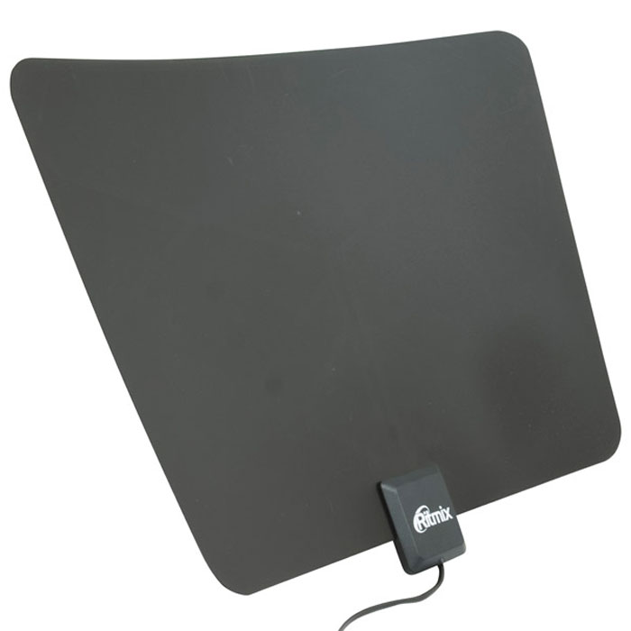 Ritmix RTA-170 DVB-T2 Ultra Slim комнатная цифровая антенна15116958Ritmix RTA-170 DVB-T2 Ultra Slim – это ультратонкая комнатная цифровая DVB-T2 антенна, выполненная в стильном дизайне. Встроенный усилитель обеспечивает качественный приём аналогового и цифрового телевизионного сигнала или радиосигнала FM-диапазона. Устройство распознаёт различные цифровые HDTV-стандарты эфирного телевещания и радио. Благодаря 3М-стикеру антенну можно прикрепить на любую поверхность и в любом положении.