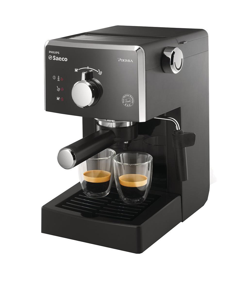 Philips Saeco HD8323/39 рожковая кофеваркаHD8323/39Philips Saeco HD8323/39 Рожковая эспрессо-кофемашина гарантирует любителям традиционного приготовления кофе идеальный эспрессо каждый день. Запатентованный напорный фильтр Crema каждый раз гарантирует великолепную стойкую пенку.Держатель напорного фильтра CremaДержатель напорного фильтра Crema Специальный фильтр Crema гарантирует великолепную стойкую кофейную пену, какой бы сорт кофе вы ни выбрали.Подходит для молотого кофе и системы Easy Serving Espresso (ESE) Вы можете использовать молотый кофе или выбрать систему Easy Serving Espresso (E.S.E.) для приготовления кофе в чалдахДавление помпы 15 барВысокое давление позволяет раскрыть весь аромат молотого кофеДолговечные качественные материалыРожковая эспрессо-кофемашина создана из высококачественных и прочных материалов.Подставка для чашекБлагодаря этой удобной функции вы можете хранить чашки и стаканы для эспрессо прямо на эспрессо-кофемашине. Так они всегда будут под рукой и не займут много места.Эргономичная работа день за днем Если необходимо добавить кофе или воды, очистить фильтр или поддон — все отсеки находятся в прямом доступе для максимального удобства.Классический капучинатор для великолепной молочной пенкиЭта эспрессо-кофемашина оснащена классическим капучинатором, который бариста называют панарелло. Для приготовления великолепной молочной пенки нужно просто погрузить его в молоко. Почувствуйте себя бариста — готовьте вкусный кофе традиционным способом!