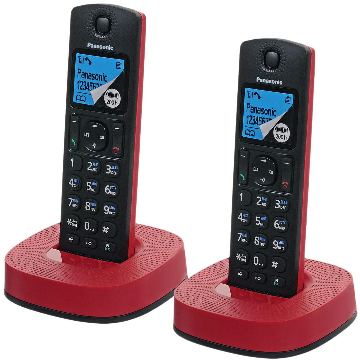 Panasonic KX-TGC312RUR, Black Red DECT телефонKX-TGC312RURPanasonic KX-TGC312RU - компактный и стильный DECT-телефон, который впишется в любой интерьер. Сведите к минимуму количество нежелательных звонков. Вы можете заблокировать любой выбранный номер, а также любые последовательности чисел (от 2 до 8 цифр), совпадающие с номерами, внесенными в черный список. С помощью специальной кнопки блокировки клавиш вы можете избежать случайных вызовов и нежелательных изменений настроек, поэтому телефон можно с удобством носить в кармане. Питание устройства осуществляется от аккумуляторов типа Ni-MH (в комплекте).