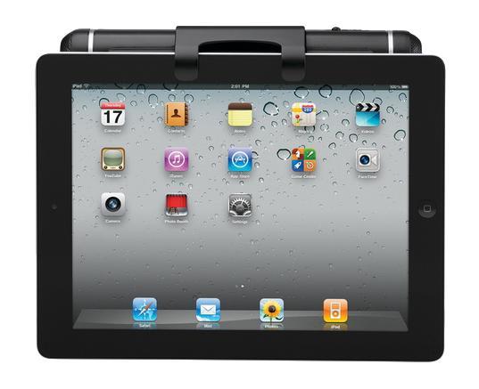 Logitech Tablet акустическая система для iPad 2 (984-000199)984-000199Акустическая система для Apple iPad 2 Logitech Tablet Speaker не требует программное обеспечение и источник питания. По USB-кабелю одновременно передается и питание, и чистый цифровой звук. Колонки можно легко использовать везде, поскольку они надежно крепятся на корпусе.