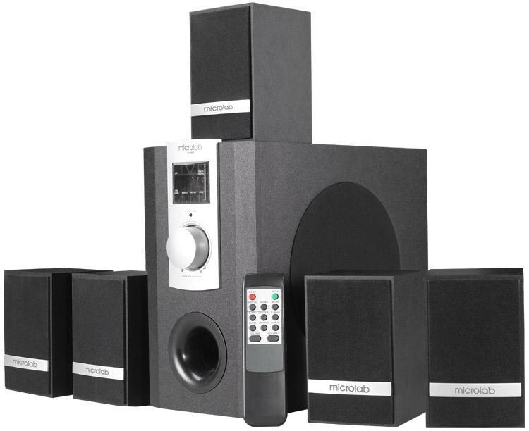 Microlab M960 акустическая системаM-960 BlackЭто компактная многоканальная высококачественная5.1 система со сбалансированным звучанием для создания домашнегокинотеатра, в деревянном (MDF) корпусе современного дизайна.Специально разработанные динамические головки оптимизированы длячистого и точного звучания.