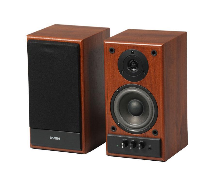Sven SPS-702, WalnutSPS-702 орехSVEN SPS-702 – представитель 2.0 линейки SVEN. Эта модель привлекательна с эстетической точки зрения – классическая внешность располагает к себе и вызывает легкий трепет в предвкушении ее голоса. Современные технологии полностью оправдывают это впечатление, окружая пользователя громким мощным звуком, и, что самое приятное – за очень невысокую цену!