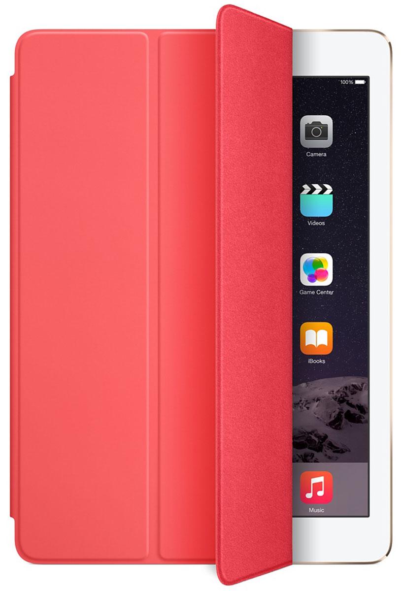 Apple Smart Cover чехол для iPad Air 2, PinkMGXK2ZM/AЛёгкая и прочная обложка Apple iPad Smart Cover полностью обновлена, чтобы соответствовать дизайну iPad Air 2. Она защищает дисплей планшета, не закрывая заднюю часть алюминиевого корпуса. Обложка изготовлена из мягкого прочного полиуретана и доступна в нескольких ярких цветах. А её мягкая подкладка из микрофибры того же цвета помогает поддерживать экран в чистоте. Крепление обложки идеально прилегает к корпусу планшета, а магниты надёжно удерживают её. При открытии чехла-обложки iPad Air автоматически выходит из режима сна, а при закрытии моментально возвращается в режим сна.Обложка Smart Cover может служить подставкой для набора текста. Сложите её, чтобы установить iPad Air 2 с удобным наклоном. Продуманная конструкция обложки Smart Cover также позволяет сложить её и превратить в идеальную подставку для общения в FaceTime и просмотра фильмов.