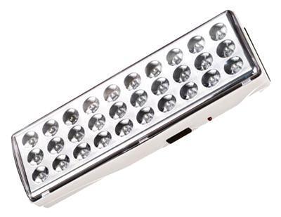 Camelion LA-103 30 LED аккумуляторный светильник11304Предназначен для использования в качестве источников резервного освещения при отключении электроэнергии в жилых и хозяйственных помещениях. Режим работы: аварийный. При наличии напряжения в сети подзаряжается встроенный аккумулятор и светодиоды при этом не светятся.При отключении электроэнергии светильник работает в течение 6 часов в режиме слабое освещение (30 светодиодидов - пониженный уровень яркости) или 3 часа в режиме полное освещение (30 светодиодов) от аккумулятора. Способ крепления: настенный. Номинальное напряжение: 230 В, 50 Гц. Количество светодиодов: 30. Световой поток: 250 Лм. Цветовая температура: 6000 К. Материал корпуса: пластик. Тип аккумулятора: свинцово-кислотный 4 В, 1,3 Ач. Время до полной зарядки 12–15 часов. Диапазон рабочих температур: от 0°С до +40°С. Габаритные размеры: 205 х 68 х 45 мм. Степень защиты: IP20.