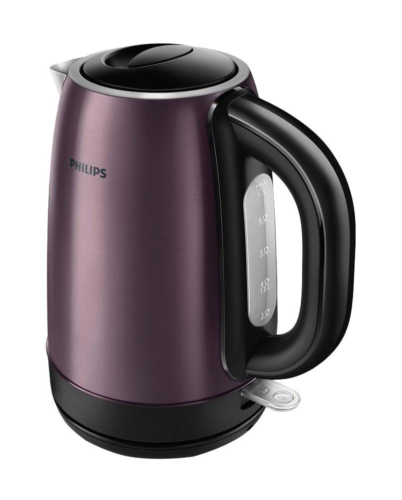 Philips HD 9323/40 электрочайникHD9323/40Philips HD9323/40 отвечает всем требованиям к удобному современному чайнику и привлекает внимание элегантным дизайном, который впишется в интерьер любой кухни или офиса. Корпус этой модели изготовлен из нержавеющей стали - вода в таком чайнике сохранит все полезные свойства, и чай станет не только вкусным, но и полезным. Закрытый нагревательный элемент и съемный фильтр от накипи делают уход за чайником очень простым. Система защиты от перегрева предохранит чайник от повреждения при случайном включении без воды. Philips HD9323/40 станет вашим верным помощником и украшением вашей кухни.Изготовлен из нержавеющей стали, безопасный и долговечныйНадежный и стильный металлический чайник изготовлен из нержавеющей стали и отличается долгим сроком службы. Надежный и безопасный регулятор чайника разработан в Великобритании. Плоский нагревательный элемент для быстрого кипячения воды и легкой чисткиВстроенный нагревательный элемент из нержавеющей стали обеспечивает быстрое кипячение и простую чистку. Фильтр от накипи для чистой водыСъемный фильтр от накипи для чистой воды и чистого чайника. Наполнить чайник можно через носик или открыв крышку. Широко открывающаяся крышка на пружине для удобного наполнения и очистки исключает контакт с паром. Катушка для удобного хранения шнураШнур оборачивается вокруг основания, что позволяет легко разместить чайник на кухне. Когда чайник включен, загорается подсветкаЭлегантная подсветка кнопки включения/выключения уведомляет о процессе нагрева воды. Беспроводная подставка с поворотом на 360° для удобства использования. Комплексная система безопасности для предотвращения короткого замыкания и выкипания водыКомплексная система безопасности для предотвращения короткого замыкания и выкипания воды. Функция автовыключения активируется, когда процесс завершается или прибор снимается с основания.