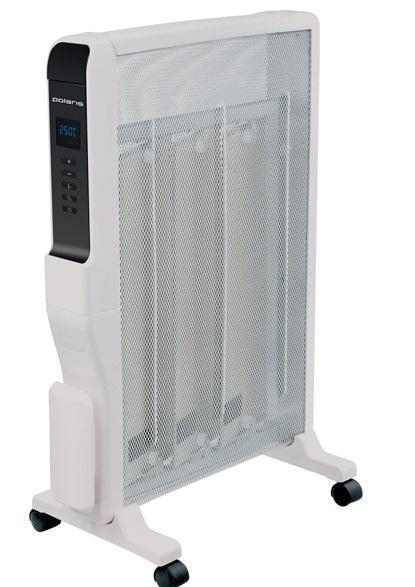 Polaris PMH 1506RCD микатермический обогревательPMH 1506RCDОбогреватель Polaris оснащен микатермическим нагревательным элементом мощностью и обеспечивает высокую эффективность обогрева, которая в несколько раз выше по сравнению с другими тепловыми приборами. Микатермический обогреватель способен автоматически поддерживать заданную температуру при помощи электронного термостата. Конструкцией предусмотрено 2 типа обогрева: конвекционный и тепловолновой. Обогреватель обеспечивает быстрый прогрев помещения после включения, не сжигает кислород и не сушит воздух и экономит электроэнергию.