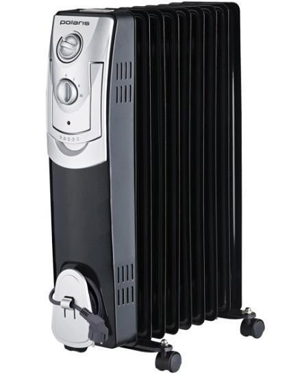 Polaris PRE L 0920 масляный обогревательPRE L 0920Радиаторы маслонаполненные предлагает к Вашим услугам свои секции под механическим управлением. Полотенцесушитель позаботится о ваших полотенцах, а встроенный тепловентилятор быстро и эффективно нагреет воздух в помещении. В этих моделях от Polaris предусмотрена и защита от перегрева. Настроить температуру воздуха поможет регулируемый термостат на корпусе обогревателя