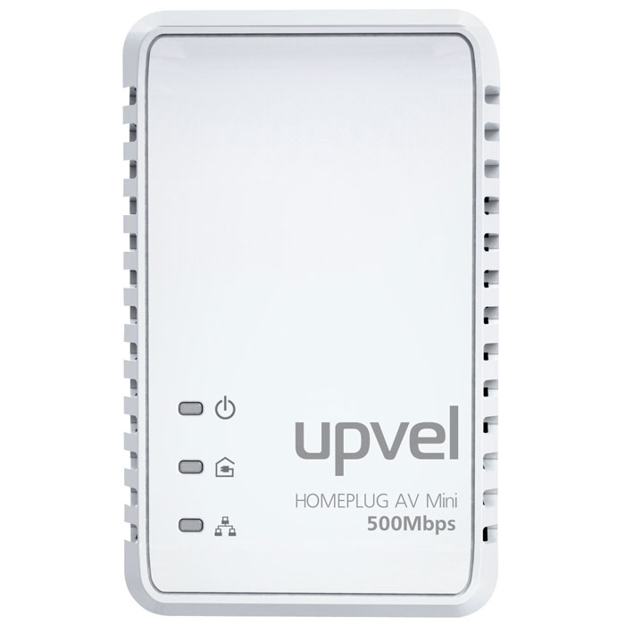 UPVEL UA-251P PowerLine адаптерUA-251PUA-251P соответствует стандарту HomePlug AV и обеспечивает скорость передачи данных 500 Мбит/с по существующей домашней электросети. С кнопкой «Simple Connect» этот адаптер позволяет легко создать домашнюю сеть, не тратя время и деньги на дорогую прокладку кабельных соединений и установку программного обеспечения. Поддержка 128-разрядного аппаратного шифрования AES гарантирует, что связь безопасна и свободна от подслушивания и взлома. UA-251P является лучшим и простейшим решением для того, чтобы объединить в сеть компьютеры, игровые консоли, Blu-Ray плееры или подключить приставку IP TV к роутеру без прокладки новых проводов.Стандарты: IEEE 1901/HomePlug AVСовместим с адаптерами HomePlug 1.0Удовлетворяет требованиям EuPIEEE 802.3 10/100 EthernetПоддержка IEEE 802.3az