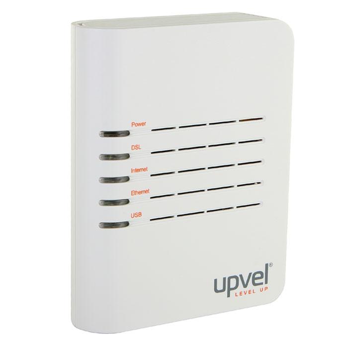 UPVEL UR-101AU маршрутизаторUR-101AUРоутер UR-101AU предоставляет собой решение начального уровня для кабельного подключения к Интернет по технологии ADSL/ADSL2+. Сплиттер, поставляемый в комплекте, оставляет свободным телефонную линию и подключается к роутеру через стандартный телефонный разъем RJ-11. Программа быстрой настройки легко настраивает доступ в сеть Интернет. Компьютер подключается к маршрутизатору по USB, а приставка IP-TV (цифровое телевидение) подключается к роутеру по кабелю Ethernet.Роутер работает с большинством российских ADSL-провайдеровПоддерживает функцию IP-TV (цифровое телевидение)Поддержка 8 PVCДиапазоны VPI (0-255), VCI (32-65535)TM Cell через AAL5Поддержка UBR/CBR/VBRИнкапсуляцияПоддержка автоматического определения VPI/VСI и метода мультиплексирования (VC-based, LLC-based)Максимальная скорость связи: от провайдера до 24 Мбит/с, к провайдеру до 1 Мбит/с (до 3.5 Мбит/с при поддержке провайдером Annex M)Стандарты:IEEE 802.3 10Base-TIEEE 802.3u 100Base-TX