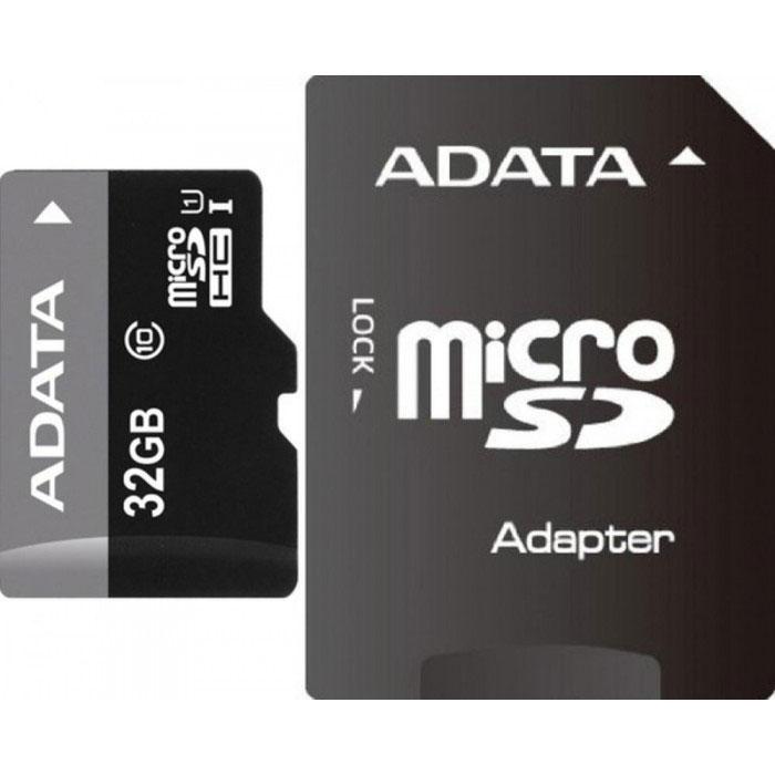 ADATA Premier microSDHC 32GB Class 10 UHS-I карта памяти + адаптерAUSDH32GUICL10-RA1Карта памяти ADATA Premier microSDHC Class 10 UHS-I отвечает новейшей спецификации SDA 3.0 и стандарту UHS-I (сверхвысокая скорость 1, класс скорости 10 по SD 2.0). В карте памяти реализована технология кода с исправлением ошибок (Error-Correction Code, ECC); кроме того, она чрезвычайно устойчива к низким температурам и рентгеновскому излучению, что делает ее одной из самых стойких карт памяти в мире.
