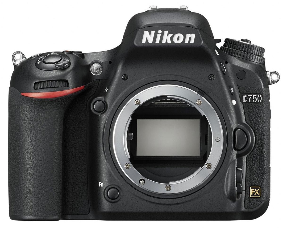 Nikon D750 Body цифровая зеркальная фотокамераVBA420AEРаскройте свое видение мира благодаря универсальной модели Nikon D750 с гибкими настройками и высокой скоростью съемки. Откройте для себя мир неограниченных возможностей: дерзайте и побеждайте с помощью полнокадровой 24,3-мегапиксельной фотокамеры.Новая конструкция матрицы формата FX обеспечивает исключительное качество изображения и как никогда четкие результаты при больших значениях чувствительности ISO. Феноменально точная автофокусировка, высокая скорость серийной съемки (6,5 кадра в секунду), возможность записи видеороликов в формате Full HD (1080/60p) и наклонный экран предоставляют фотографу полную свободу для творчества. Используйте встроенный модуль Wi-Fi и мгновенно делитесь впечатляющими снимками.Система АФ Multi-CAM 3500FX с 51-й точкой гарантирует превосходную точность на всех участках полнокадрового снимка. Система обеспечивает переключение между 9-, 21- и 51-точечным покрытием кадра и сохраняет чувствительность вплоть до -3 EV (ISO 100, 20 °C). Быстрая блокировка и расширенная функциональность «Сохранение по ориентации». Пятнадцать датчиков перекрестного типа в центре совместимы с объективами AF NIKKOR, имеющими диафрагму f/5,6 или более светосильными, а 11 центральных точек фокусировки работают с диафрагмой f/8.В режиме групповой АФ непрерывно осуществляется мониторинг пяти разных областей АФ, а также обеспечиваются быстрое наведение на объект съемки и улучшенная изоляция фона в случае съемки сравнительно небольших объектов на высококонтрастном или отвлекающем фоне. 5-точечную зону АФ можно перемещать в пределах 51?точечного массива в соответствии с компоновкой кадра.Фотокамера поддерживает разные кадровые форматы для трансляции качественного D-видео, позволяющие вести съемку видеороликов в различных условиях. Фотокамера D750 записывает видеоролики Full HD (1080p) в форматах FX и DX с частотой кадров 50p/60p; при этом уровень шума, муара и искажения цветов намного ниже. Эта модель поддерживает упр