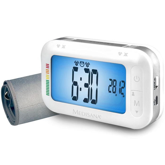 Medisana BU 575 Connect прибор для измерения и контроля давления (51296)BU 575Medisana BU 575 Connect - современный плечевой походный тонометр с функцией настольного будильника. На четком дисплее отображаются следующие данные: систолическое и диастолическое давление, пульс, дата и время измерения. Два блока памяти по 180 ячеек рассчитаны на 2-х разных пользователей. Имеется также специальный режим измерений для «гостей» - результаты не фиксируются в памяти прибора.