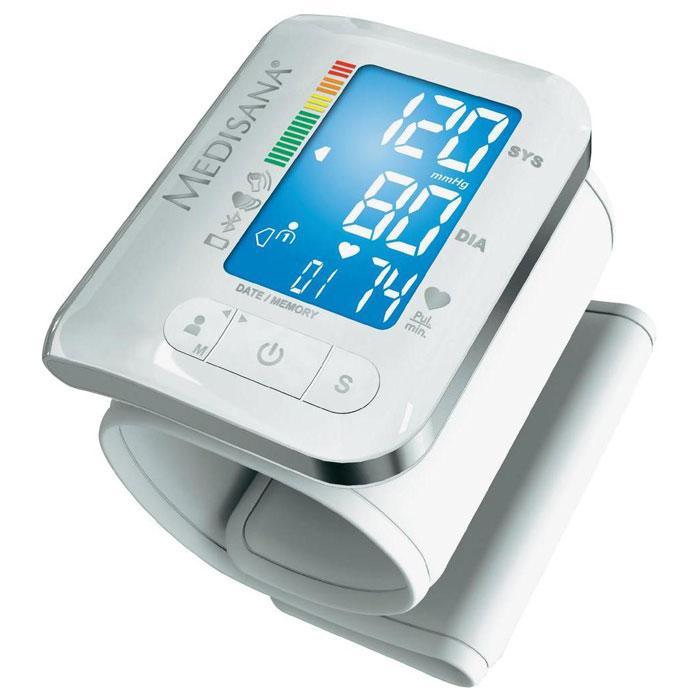 Medisana BW 300 Connect прибор для измерения и контроля давления (51294)BW 300Тонометр Medisana BW 300 Connect предназначен для измерения артериального давления на запястье и может подключаться к мобильным устройствам. Он способен измерять пульс, давление, выявлять аритмию, позволяет быстро получить результаты измерения. Прибор оснащен двумя блоками памяти по 180 ячеек, рассчитанными на двоих пользователей. Разработчики предусмотрели специальный режим для гостей, при включении которого результаты не фиксируются в памяти тонометра. Передача данных осуществляется с помощью технологии Bluetooth в сервис VitaDock Online через приложение VitaDock для мобильных устройств с платформами iOS и Android.