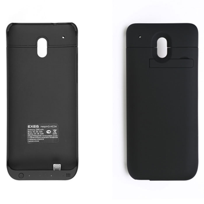 EXEQ HelpinG-HC04 чехол-аккумулятор для HTC One Mini, Black (2300 мАч, клип-кейс) телефон htc one в рассрочку в минске