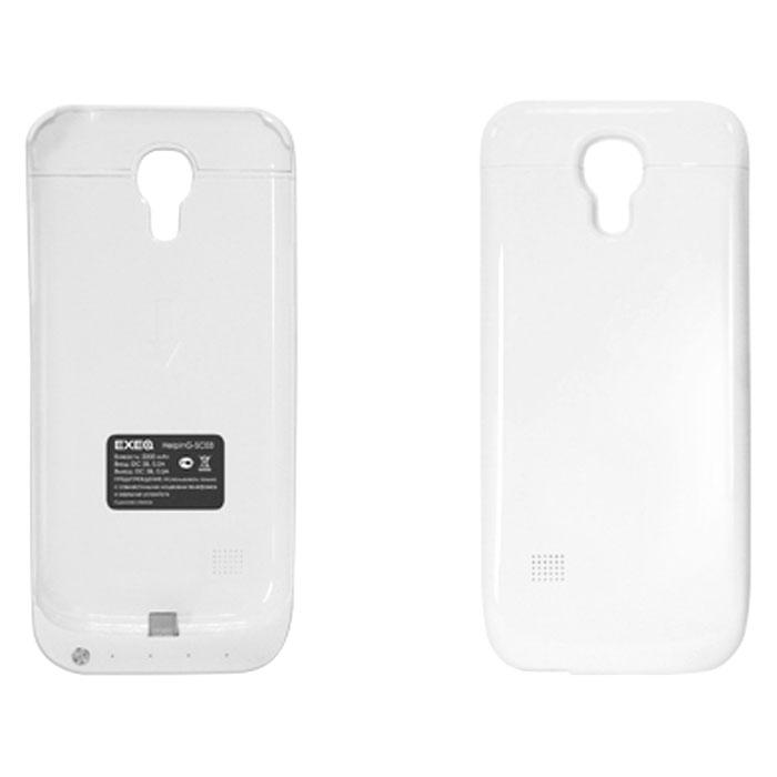 EXEQ HelpinG-SC03 чехол-аккумулятор для Samsung Galaxy S4 mini, White (2200 мАч, клип-кейс)HelpinG-SC03 WHExeq HelpinG-SС03 – уникальное устройство, идеально сочетающее в себе надежный чехол и дополнительный аккумулятор емкостью в 2200 мАч для Samsung Galaxy S4 Mini. Как чехол устройство прекрасно защитит заднюю панель вашего смартфона от загрязнений, царапин и ударов. Как дополнительный аккумулятор HelpinG-SС03 обеспечит своевременную подзарядку вашему смартфону и продлит жизнь штатной батареи на часы дополнительного использования.Стильный и лаконичный дизайн чехла придется по вкусу многим пользователям смартфонов Samsung, а наличие в корпусе чехла всех необходимых отверстий под камеру, кнопки и разъемы позволит не снимать чехол длительное время. Зарядка чехла-аккумулятора происходит от зарядного устройства телефона, при этом аппарат из чехла доставать не нужно. Достаточно просто подсоединить зарядное устройство к чехлу и зарядка начнется автоматически. Для зарядки телефона необходимо подсоединить зарядное устройство к чехлу и нажать на кнопку питания на чехле.