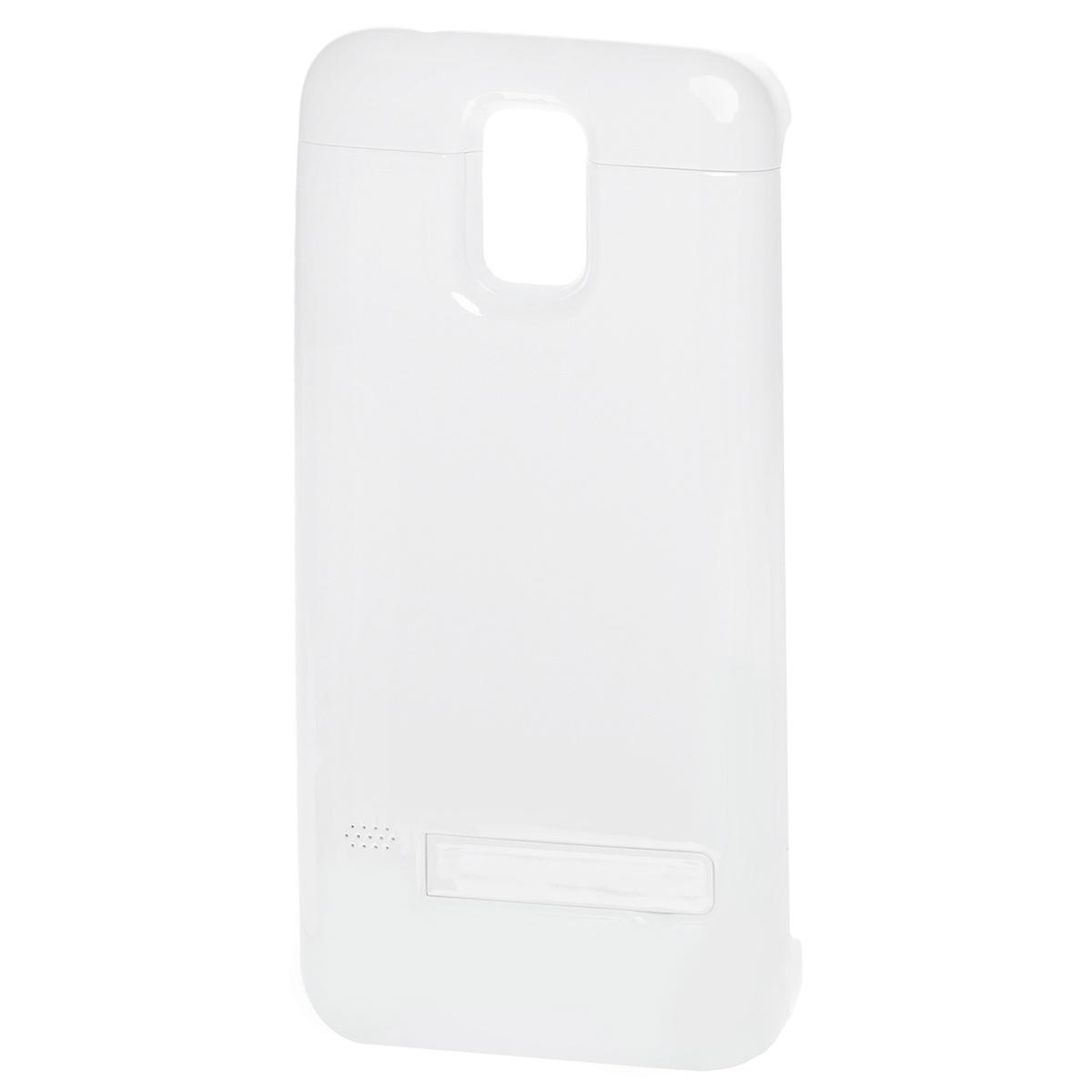 EXEQ HelpinG-SC08 чехол-аккумулятор для Samsung Galaxy S5, White (3300 мАч, клип-кейс)HelpinG-SC08 WHExeq HelpinG-SС08 – универсальный аксессуар, благодаря которому ваш смартфон не только будет надежно защищен, но и обеспечен своевременной подзарядкой! Exeq HelpinG-SС08 выполнен из прочного прорезиненного пластика, который надежно защитит смартфон от ударов, царапин и загрязнений. Встроенный аккумулятор емкостью в 3300 мАч обеспечит своевременную подзарядку батареи смартфона в самые необходимые моменты его использования.Также чехол Exeq HelpinG-SС08 оборудован встроенной подставкой, которая позволит надежно закрепить телефон в горизонтальном положении, например для просмотра видео, чтения электронных книг. Заряжается чехол-аккумулятор Exeq HelpinG-SС08 от зарядного устройства телефона, причем заряжать оба устройства можно не извлекая телефон из чехла. Так для зарядки телефона просто подсоедините зарядное устройства к чехлу и нажмите кнопку питания на чехле, а для зарядки чехла просто подсоедините зарядное устройство к нему. Аналогично происходит и подключение телефона к компьютеру – чехол-аккумулятор Exeq HelpinG обеспечивает идеальную передачу данных между смартфоном и другими электронными устройствами.