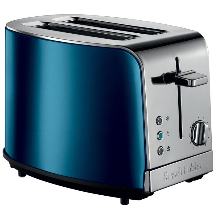Russell Hobbs 21780-56 Jewels Topaz, Blue тостер21780-56Russell Hobbs 21780-56 Jewels Topaz представляет собой сочетание стиля и функциональности. Он имеет широкие длинные слоты, которые позволят не ограничивать себя в выборе ломтиков для приготовления вкуснейших тостов. Регулировка степени поджаривания позволит приготовить тост на свой вкус, а функция экстра-подъема позволит проверить готовность тоста прямо во время цикла приготовления. Функция разморозки заметно упрощает приготовление теплого хлеба или тостов, а съемный поддон для крошек не позволит им появляться на вашей рабочей поверхности кухни. Тостер является настоящим образцом стиля и привлекательности. Выполненный в богатом голубом цвете, с лакированным корпусом, тостер займет достойное место в современном или традиционном интерьере кухни.