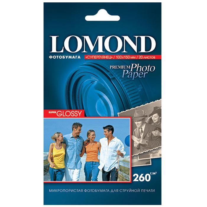 Lomond Super Glossy Bright 260/10x15/20л суперглянцевая ярко-белая1103102Суперглянцевая (Super Glossy) микропористая фотобумага Lomond для струйной печати.Микропористое покрытие обеспечивает столь же высокое качество печати, как и традиционная фотография. Себестоимость отпечатков на бумаге Lomond Premium Photo c использованием картриджей Lomond - ниже, чем стоимость отпечатков, получаемых по традиционной технологии с использованием химических реактивов. Благодаря полиэстеровому покрытию бумажной основы бумага Lomond Premium Photo совершенно не подвержена короблению после прохода через принтер даже при самой интенсивной заливке чернилами.Модификация Super Glossy по фактуре поверхности наиболее близка к традиционной химической фотобумаге. Отпечатки отличаются высоким глянцем.Основа: RC (Resin Coated) Тип покрытия: Микропористое Размеры: 100 х 150 мм