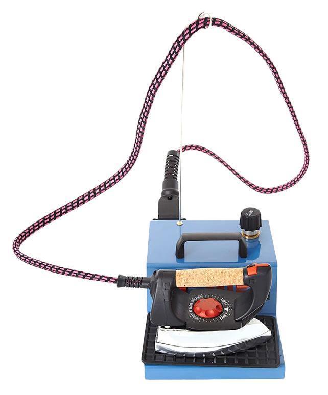 MIE Stiro Pro-100, Blue парогенераторPro-100 BlueЭлектропитание - 220 - 240 В / 50 -60 Гц - Мощность утюга - 800 W - Мощность парогенератора - 1400 W - Давление пара - 4 бара - Вместимость бойлера - 1.5 Л - Кнопка включения утюга с контрольным индикатором - Кнопка включения парогенератора с контрольным индикатором - Индикатор готовности пара - Продолжительность работы с паром, до новой заправки бойлера водой - 1,5 часа
