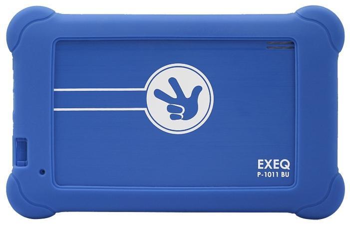 EXEQ P-1011 ФиксиТаб, BlueР-1011 BUФикситаб – компактный планшетный компьютер, который имеет удобный детский интерфейс и очень похож на тот, которым пользуются фиксики - герои популярного одноименного сериала! Фикситаб - маленький компьютер, который может все или почти все! Его можно использовать как книжку, в нем можно писать, как в тетради, он позволяет слушать музыку, смотреть фильмы, переговариваться и переписываться с друзьями. А еще через Фикситаб можно выйти не только в обычный интернет, но и в секретный интернет фиксиков и узнать последние новости из их мира! В Фикситабе также есть игрушки, большая часть которых направлена на обучение и развитие – логические игры на смекалку, игровое изучение цифр, букв. Учиться с Фикситабом одно удовольствие! Кроме детей, Фикситабом прекрасно могут пользоваться и их родители. Введя специальный пароль, можно выйти из меню Фикситаба в меню обычного планшета и пользоваться всеми функциями обычного андроид устройства. Как андроид устройство, Фикситаб имеет двухъядерный процессор, 7-ми дюймовый дисплей с разрешением 800*480 пикселей и поддержкой мультитач, модуль Wi-Fi, а также 4 Гб встроенной памяти и слот для карт памяти. Работает устройство под управлением операционной системы Android 4.2.Внешний вид.Как устройство, предназначенное в первую очередь для детей, Фикситаб сделан специально для них: яркая цветовая гамма, компактные размеры, прорезиненный протиударный чехол, плавные формы без зазоров и острых углов. Такой внешний вид позволит Фикситабу не только удобно разместиться в детских ладошках, но и при необходимости надежно защитит его от всяких непредвиденных обстоятельств, например, ударов и падений. Внешний вид планшета прекрасно дополняет емкостной сенсорный дисплей с диагональю в 7 дюймов и разрешением 800*480 пикселей.Планшет сертифицирован Ростест и имеет русифицированный интерфейс, меню и Руководство пользователя.