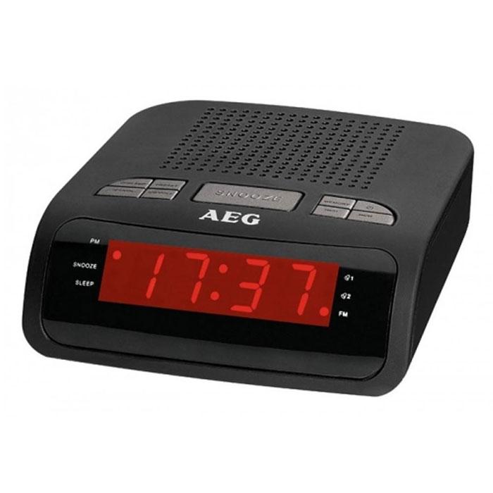 AEG MRC 4142, Black радиочасыMRC 4142 schwarzAEG MRC 4142 - радиобудильник с светодиодным дисплеем отображения времени и режимов работы. Прослушивать любимые радиостанции поможет встроенный PLL-тюнер с поддержкой FM-диапазона. Вы также можете выбрать сигнал пробуждения: радио или зуммер.Цифровая индикация частотыДипольная антеннаТаймер автоматического отключенияДва времениПовтор сигнала (режим дремать) Уважаемые клиенты! Обращаем ваше внимание на то, что батарейки используются в качестве резервного питания, а не самостоятельного.